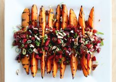 grilled sweet potatoes with cherry salsa and quinoa - via The First Mess