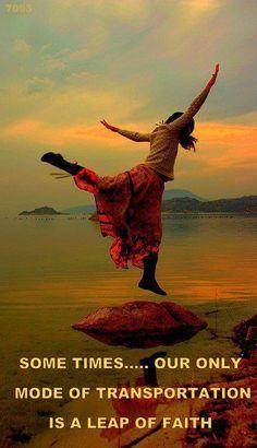 A leap of faith...