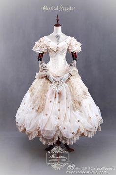 """Classical Puppets [-♛-Elizabeth-♛-] Luxurious Lolita OP Dress (Price: About US Dollars)"" Alexander Grassner Große 46 Old Fashion Dresses, Old Dresses, Vintage Dresses, Vintage Outfits, Frilly Dresses, Pretty Dresses, Beautiful Dresses, Tutu Skirts, Victorian Fashion"