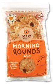 OZERY BAKERY Morning Round Pita Bread, Muesli, 12.7 Ounce (Pack of 6)