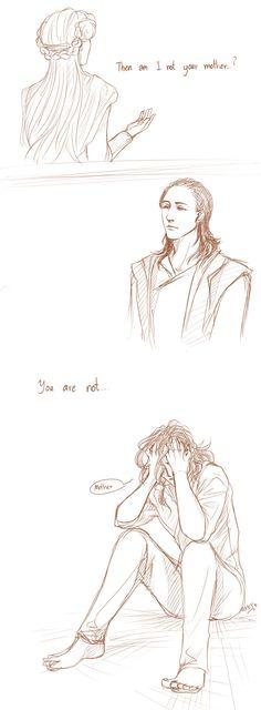 argggggggggggggggggg  Loki and frigga  this shot make me cry ;;___;;