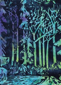 Batik fabric from Island Batik, Season Winter designed exclusively for Northwest Quilting Expo. Northwest Quilting Expo 2012 Challenge fabric for the Forever Seasons challenge quilt.