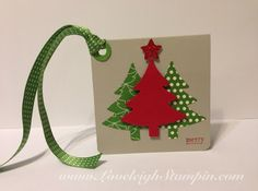 Dana Kent Stampin' Up! Demonstrator  Simple Christmas Gift Tag