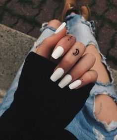 Tiny finger tattoos for girls; small tattoos for women; - Tiny finger tattoos for girls; small tattoos for women; Wedding Acrylic Nails, Summer Acrylic Nails, Best Acrylic Nails, Acrylic Nail Designs, Simple Acrylic Nails, Black Acrylic Nails, Nails Now, Aycrlic Nails, Matte Nails