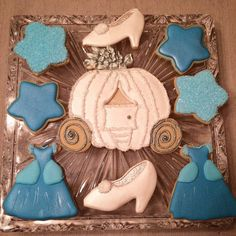 1 doz Cinderella cookies by FrostedSweetPeas on Etsy