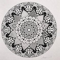 Mandala by Like it! Mandala Coloring, Colouring Pages, Adult Coloring Pages, Coloring Sheets, Mandala Pattern, Mandala Design, Mandala Art, Pattern Designs, Patterns