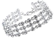 Pretty Swarovski Crystal Elements Fancy Bridal Cocktail Fashion Link Bracelet [S0493] - $14.99 : Alilang, Fashion Costume Jewelry & Accessories Store