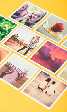 Diy Crafts Ideas : These cute square prints can be made with photos from your Instagram camera-rol