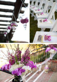 Bright pops of purple! Beautiful purple orchids