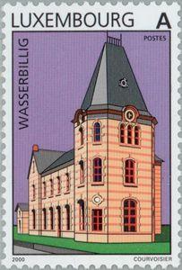 Sello: Wasserbillig (Luxemburgo) (Tourism) Mi:LU 1496,Sn:LU 1024,Yt:LU 1446