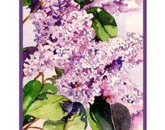 White Iris Watercolor Notecards Note Cards Iris by watercolorwork