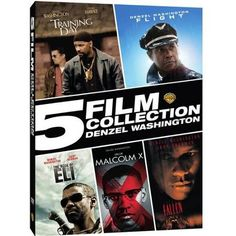 5 Film Collection: Denzel Washington - Training Day / Flight / The Book Of Eli / Malcolm X / Fallen (DVD + Digital Copy) (With INSTAWATCH) (Walmart Exclusive))