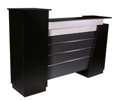 "Deco Monroe Reception Counter/Desk 60"" Wide (Black)"