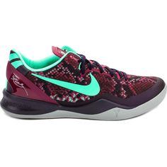 Kobe 8 System Pit Viper Men's Basketball Shoe (Purple Dynasty/Green/Raspberry)