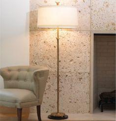 antique brass floor lamp