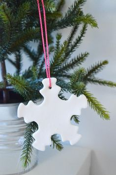 fimo clay cookie cutter ornament