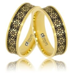 Verighete ATCOM lux ILINCA aur galben Pakistani Fashion Party Wear, Aur, Bangles, Bracelets, Wedding Rings, Silver, Jewellery, Jewels, Schmuck