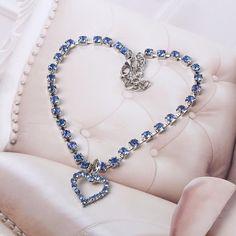 Pet Dog Crystal Jewelry Diamond Heart Rhinestone Pendant Necklace Collar Chic Elegant Style #Affiliate