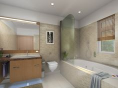 Master Bathroom at Aster Court apartments by Orris