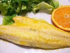 filetti di branzino al suco di arancia