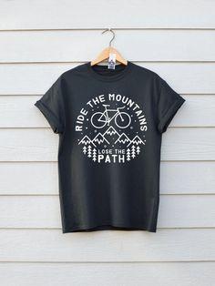 11b479451 Ride The Mountains Bike T-shirt Premium Bike Tee Available in  #menshirtstyle Mens Tee