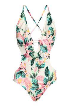 Bye-bye bikini, hello one piece. The swimsuit is the biggest swimwear trend of the … - Spring Break Halter One Piece Swimsuit, Ruffle Swimsuit, V Neck Bodysuit, Womens Bodysuit, Floral Bodysuit, Looks Pinterest, Cute Bathing Suits, Swimwear Fashion, Swimwear
