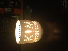 Named porcelain candle holder