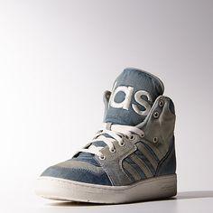 reputable site a6db5 eeb6a adidas Jeremy Scott Instinct Hi Denim Shoes Moda Urbana, Urbano, Adidas  Hombre, Zapatillas