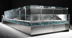 Counter display case / for shops ebony criocabin counter display, concept, Counter Display, Display Shelves, Display Case, Coffee Shop Counter, Meat Store, Plate, Shop House Plans, Restaurant, Shop Front Design