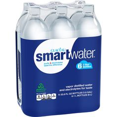 Glaceau Smartwater Vapor Distilled Water, 33.8 Ounce (Pack of 6): Amazon.com: Grocery & Gourmet Food