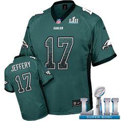 Nike Eagles  17 Alshon Jeffery Midnight Green Team Color Super Bowl LII  Men s Stitched NFL ae62bbe45