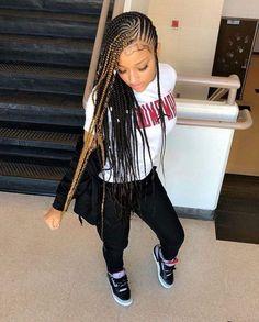 3 Box Braids Hairstyles for Black Women Box Braids Hairstyles, Lemonade Braids Hairstyles, Black Girl Braided Hairstyles, Black Girl Braids, Braids For Black Women, Braids For Black Hair, Girls Braids, Black Women Hairstyles, Girl Hairstyles