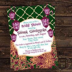 fd8e45b7fde5 Items similar to Bollywood invitation- indian bridal shower invitation  -Mehendi invitation-bollywood party invite- hindu wedding invitation-shaadi  on Etsy