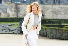 A cool crop top is totally wearable when done right—take a cue from this chic getup spotted at Paris Fashion Week!