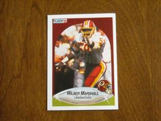 Wilbur Marshall Washington Redskins Linebacker No. 161 (FB161) 1990 Fleer Football Card - for sale at Wenzel Thrifty Nickel ecrater store