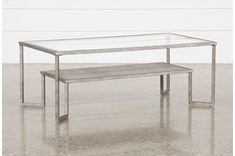 Coffee Tables Under $195 to Fit Your Home Decor | Living Spaces Coffee Table Living Spaces, Coffee Tables, Studio Living, Living Room, Low Shelves, Glass Table, Coffee Shop, Hardwood, Interior Design