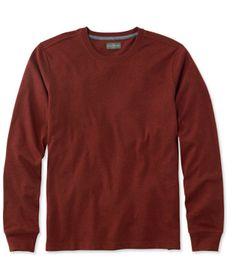 Signature Textured Knit Tee, Crewneck Long-Sleeve