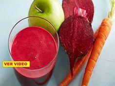 Se demostró que si mezclas manzanas remolacha y zanahorias y bébes 1 vaso destruirás estas enfermed