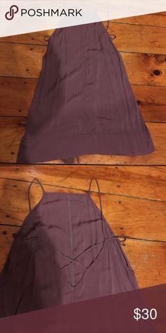Never worn free people slip dress Purple rayon slip dress never worn! Free People Dresses Mini