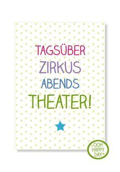 Tagsüber Zirkus, abends Theater von