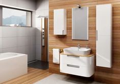 Venus Series is characterized by a rounded body with harmoniouslyintegrated accessories, handles, drawers, and a thin top which addsmore softness and warmth. The washbowl put on the countertopperfectly complements the whole set, which can. Roof Design, Catcher, All About Time, Toilet, Drawers, Architecture, Storage, House, Furniture