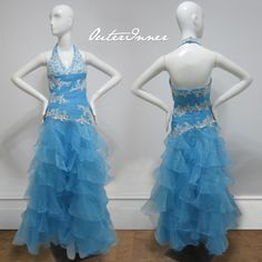 Beautiful cascading organza prom dress!  Princess Organza Beading Floor-length Graduation Prom  Style Code: 00283 / $159  Buy yours here: http://www.outerinner.com/princess-organza-beading-floor-length-graduation-prom-pd-00283-0.html?k=00283  #prom #ball #dress #outerinner
