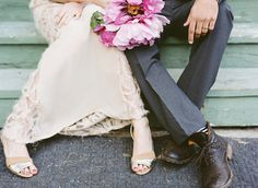 love how relaxed they are, how it shows dress/shoe/flower details!