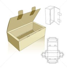 Tray template with lid and locking tabs