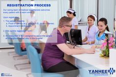 The Registration Process  Check out our Facebook page for promotions and latest trends on cosmetic surgery: https://www.facebook.com/yanheeinternational  #Yanhee #cosmeticsurgery #plasticsurgery #healthandbeauty