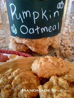 Handmade by Hilani: Guilt Free Pumpkin Oatmeal Cookies - High Fiber & Protein
