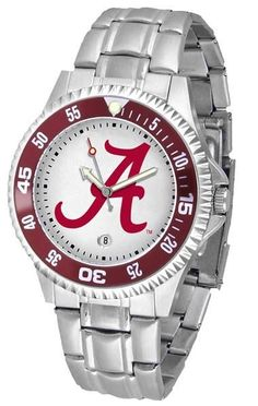 Showcase the hottest design in watches today! A functional rotating bezel is color-coordinated to compliment your favorite team logo. A durable, long-lasting combination nylon/leather strap, together with a date calendar, round out this best-selling timepiece. Rotating Color Bezel Stain Steel Band Date Calendar Team Logo Dial  3 Year Limited Warranty   Allow 7 Business Days For Item to Ship.  Product made after order is placed.