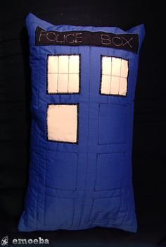 Dear future roommate, I know my birthday just passed but for a present this is what I want a TARDIS pillow!  Love, Lizzie