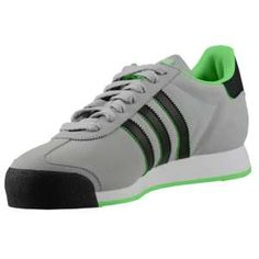 adidas Originals Samoa - Men's - Tech Grey/Green Zest/Black