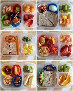 Here's a round up of fun #bento school lunch ideas! | packed in @EasyLunchboxes containers